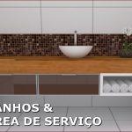 Banheiro Área de Serviço - Arte Módulos WM